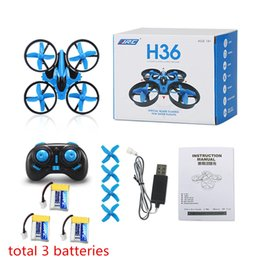 Toy Helicopters Metal NZ - JJRC H36 Mini Drone RC Drone Quadcopters Headless Mode One Key Return RC Helicopter VS JJRC H8 Mini H20 Dron Best Toys For Kids