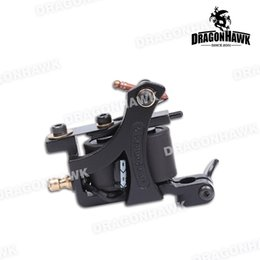 coil tattoo machine supplies Canada - New Tattoo Machine Shader Tattoo Gun 10 Wraps Copper Coils Alloy Frame Tattoo Supply for Coloring WQ4451