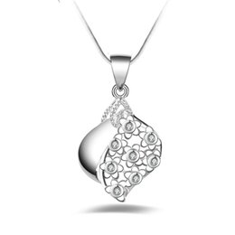 $enCountryForm.capitalKeyWord UK - Free shipping fashion high quality 925 silver Crystal Wave With diamond jewelry 925 silver necklace Valentine's Day holiday gifts hot 1644