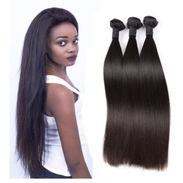 Malaysian Straight Hair 22 Inches Canada - Brazilian Hair Straight Bundles Virgin Hair Human Hair 3 Pieces Bundles 8-30inch Natural Color Malaysian Peruvian Indian Cambodia 10a Grade