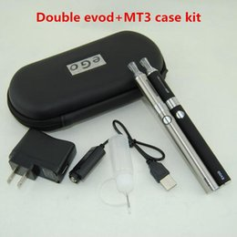 $enCountryForm.capitalKeyWord NZ - Double EVOD MT3 vape pens Starter kit with ecigarette MT3 Vaporizer Atomizer Clearomizer tank vs ugo eGo T vision spinner twist Battery kits