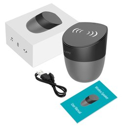 China 1 Piece! iLEPO A1 Wireless Charger Speaker With 1800mAh Battery 5W Output Qi-enabled Fast Charging For Cell Phone Portable Bluetooth Speaker suppliers