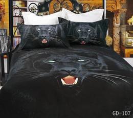 wholesale37 piece 100 organic cotton bed sheets king size 3d black leopard bedding sets animal print bed cover set duvet cover linens