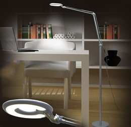 Led Floor Lamp Living Room Bedroom Study Piano Lights Creative Modern Simple Lamps Silvery White