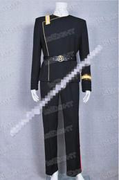Star Trek Movie Costumes Canada - Custom Made Star Trek II-VI Wrath of Khan Starfleet Uniform Cosplay Costume Halloween Party Event Coser Cosplayer