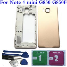 $enCountryForm.capitalKeyWord NZ - NEW Full Housing Back Battery Door Cover+ Tools For Samsung Galaxy Note 4 mini G850 G850F Black White Blue Gold