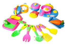 Wholesale Free Shipping Sooktops Ultralarge Combination 17 Piece Set Kitchen  Utensils Educational Toys Fruit