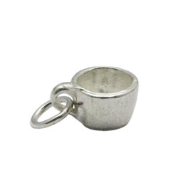 Tea Jewelry Canada - Beadsnice tea cup charms sterling silver jewelry accessories pendant charms for bracelet making gift for mom ID 29931