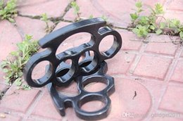 Brand New ARIVAL Black THICK STEEL BRASS KNUCKLES DUSTER BUCKLE Бесплатная доставка
