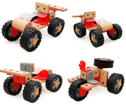 Diy Toys Truck Car Canada - DHL Wooden Cars Toys Kids Model Cars DIY Assemble The Racing Vehicle Children Learning & Education Toys