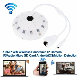 Ir Camera Sony Canada - Ceiling Mount 360 Degree 1.3MP Wifi Wireless Panoramic IP Camera Support Motion Detection Audio IR Night Vision Micro SD Card Android iOS