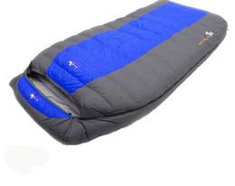 Высокое качество утка вниз заполнение ultralarge два человека 3500 г / 4000 г удобный кемпинг вниз спальный мешок