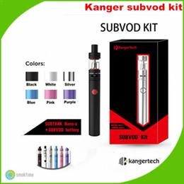 kangertech subvod starter kit 2019 - Wholesale-Wholesale original kanger subvod kit with SSOCC 0.5 Ohm Coil kangertech subvod starter kit 20pcs a lot DHL fre