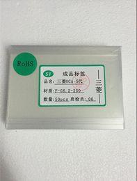 Apple Sticker Canada - 50pcs lot 250um OCA Optical Clear Adhesive Glue Film Sticker for iPhone 4 4s 5 5c 5s 6 6plus LCD Repair