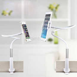 Rotating Tablet Stand Canada - 360 Rotating Lazy Bed Desktop Tablet Mobile Phone Holder Stand Cradle for iphone 4S 5S 6S Plus for Ipad mini 4 Air 2