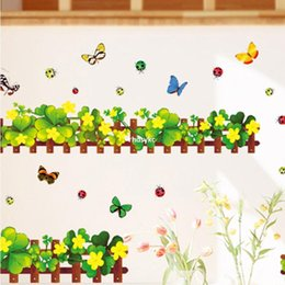 $enCountryForm.capitalKeyWord Canada - 10pcs Supply AM5004 [Clover] environmental protection European standard PVC transparent film of small size baseboard wall stickers