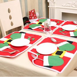$enCountryForm.capitalKeyWord Australia - CALOFE DIY Chirstmas Decorations For Home Kitchen Dinner Table Mat Placemat Party New Year's Cute Table Cloth Pad Tableware Mat