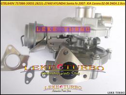 Venta al por mayor de GTB1649V 757886-0005 757886 757886-5005S 28231-27460 turbocompresor para HYUNDAI Santa Fe 2007-; para KIA Carens 02-06 D4EA D4ED D4EF 2.0L