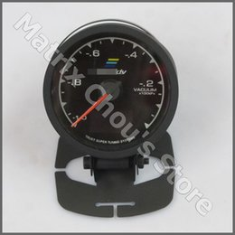 62mm GReddy Vacuum Gauge7 Light Colors LCD Display With Voltage Car Meter 2.5 Inch With Sensor Racing Gauge