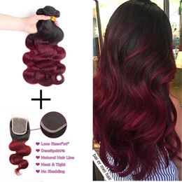 Red black brazilian hair bundles online red black brazilian hair 8adark red ombre brazilian body wave 3bundles ombre hair bundles with lace frontal closure t1b 99j two tone black maroon red hair extensions urmus Image collections