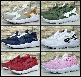 9147bbe8517 Pink Light Huarache Canada - 2017 New Air Huarache 1 I Women Running Shoes  Green White
