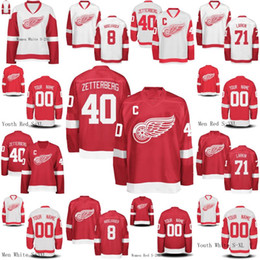 90f3abce025 Mens Womens Youth Detroit Red Wings 34 Petr Mrazek 35 Jimmy Howard 55  Niklas Kronwall 61 Xavier Ouellet Custom Hockey Jerseys