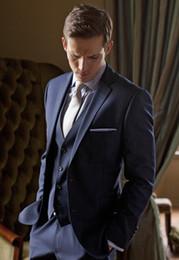 $enCountryForm.capitalKeyWord NZ - The latest version of deep blue male suit dress the groom dress ball wedding suit (jacket+pants+vest)