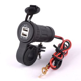 Discount outlet tablet - Wholesale- 12-24V Dual USB Charger Motorcycle Handlebar Power Socket 3.1A Waterproof Motorbike Power Port Outlet For Iph