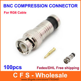 CCtv Coax Cable online shopping - BNC Connector Male Compression Coax RG6 CCTV Cable Connectors BNC Insulation Connector