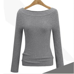 $enCountryForm.capitalKeyWord Canada - Autumn Winter Sweaters Woman Knitted Luxury Slim Pullover Sweater Tops With Long Sleeve Slash Neck Casual Women Cashmere Sweaters Clothing