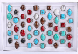 $enCountryForm.capitalKeyWord Canada - mix style Mix colors fashion The ancient silver Turquoise ring Round oval diamond square Turquoise ring 50pcs