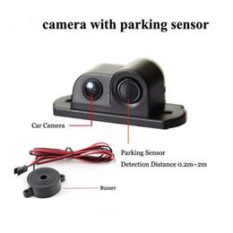 Radar Backup Car Canada - 170 Degree 2 in 1 Sound Alarm Car Reverse Backup Video Parking Sensor Radar System Rear View Parking Camera