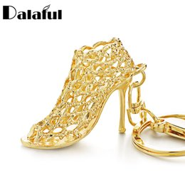 China beijia Hollow Out High heel Shoes Keychain Purse Bag Buckle HandBag Pendant For Car Keyring Holder Women Best Gift K230 cheap insect shoes suppliers
