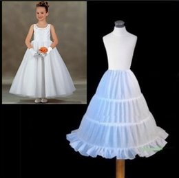 $enCountryForm.capitalKeyWord Canada - Flower Girls' Petticoats Three Circle Hoop Children Kid Dress Slip Underskirt Little Girls A-Line Petticoats