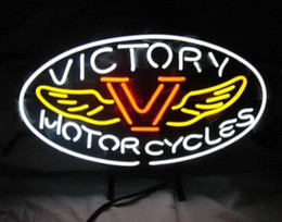 "$enCountryForm.capitalKeyWord NZ - Hot American Bike VVictory Motorcycles Real Glass Tube Neon Sign Lighting Repaire Sprot Racing Game Neon Signs 19""X15"""