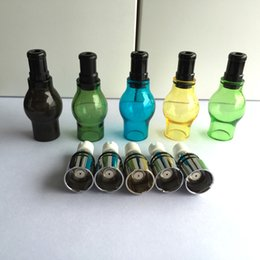 $enCountryForm.capitalKeyWord Canada - Colorized Glass Globe Wax Vape Pens Atomizer - Fit Single Ceramic Wax Coil   Dual Quartz Coil   Donut Ceramic Coil eGo T Batteries