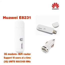 $enCountryForm.capitalKeyWord NZ - Lot of 1pcs Unlocked HUAWEI E8231 3G 21Mbps WiFi dongle USB modem car Wifi Support 10 Wifi users