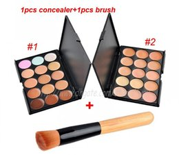 $enCountryForm.capitalKeyWord Canada - Hot 15 Colors Contour Face Cream Makeup Concealer Palette Powder Brush non-creasing hypoallergenic formula Free Shipping