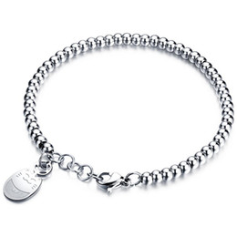 Lucky goLd cat online shopping - Women s Stainless Steel Bracelets Rose Gold Color Bead Bracelet Jewelry Lucky Cat Bead Bracelet Gift