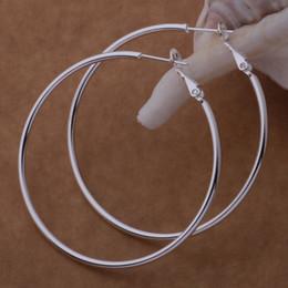 Опт Высокое качество стерлингового серебра 925 Хооп серьги большой диаметр 5-8 см мода партия ювелирных изделий довольно милый Рождественский подарок бесплатная доставка 1343