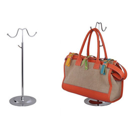 Chinese  Double Hooks Curved Hook Light Hanging Bags Adjustable Handbag Rack Display Silk Scarves Bag Hook Wig Hanger Stand ZA5227 manufacturers