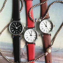 Discount bracelet tags - Hot Sale Fashion Quartz Watch Women Girl Roman Numerals Leather Band Wrist Bracelet Watches Hot Sale Dropship Relogio