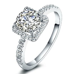 100% S925 pure silver High-end custom 18 k GP jewelry AAA Simulated Diamond Female Ring wedding ring Engagement Ring