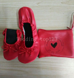 Fabric Sold Roll Canada - 2018 hot sell Factory wholesale pink kidskin flat heel roll up ballerina shoes in bag