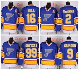 Discount al macinnis - St. Louis Blues Turn Back 2 Al Macinnis 9 Doug Gilmour 16 Brett Hull CCM Vintage 99 Wayne Gretzky Retro Hockey Jersey Li