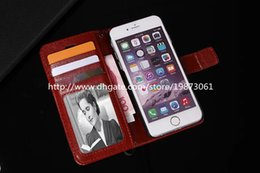 TransparenT flip cover s6 edge online shopping - For Galaxy S6 Cases Wallet PU Leather Flip Case Cover Pouch With Card Slot Photo Frame for iPhone Samsung Galaxy S6 Edge