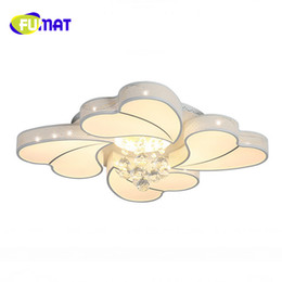 Discount cool ceiling designs FUMAT Free Shipping Design Modern Crystal Ceiling Lights Living Room Bedroom Flush Mount Ceiling Light Lustres Home Deco