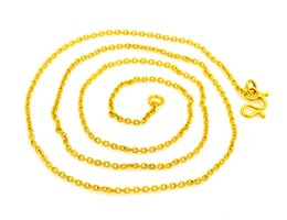 Discount mexican gold chain prices - 18 inches 24K Gold Plated Clavicle Chokers 2MM Chain Necklaces Fashion Jewelry for Women Best Gift AX030 Wholesale Price