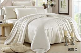 $enCountryForm.capitalKeyWord NZ - Luxury king size bedding set queen beige sheet duvet cover double bed in a bag quilt doona linen bedsheet bedroom tencel 4pcs bedlinens