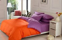 King Size Bedding Sets Orange Canada - King size queen bedding set quilt doona duvet cover designer double bed sheet bedspreads cotton orange purple pink blue grey red green